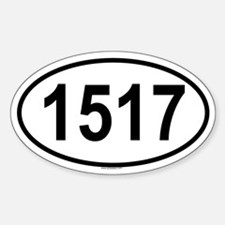 1517 Oval Decal