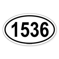 1536 Oval Decal