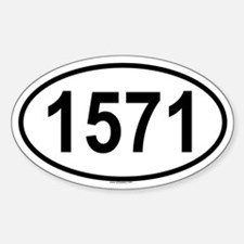1571 Oval Decal
