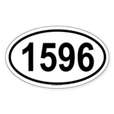 1596 Oval Decal