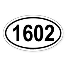 1602 Oval Decal