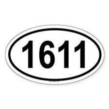 1611 Oval Decal