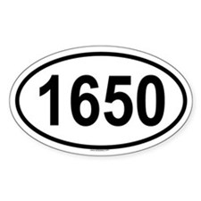 1650 Oval Decal