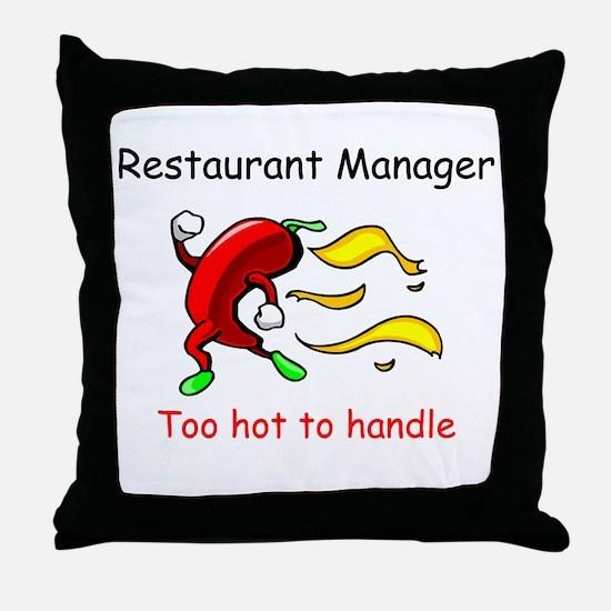 Restaurant Manager Throw Pillow