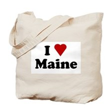 I Love Maine Tote Bag
