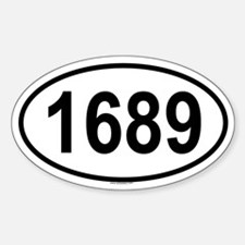 1689 Oval Decal
