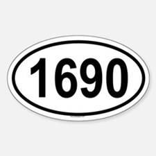 1690 Oval Decal