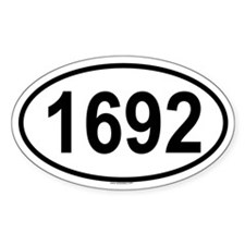 1692 Oval Decal