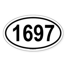 1697 Oval Decal