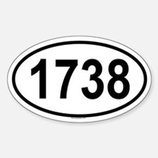 1738 Oval Decal