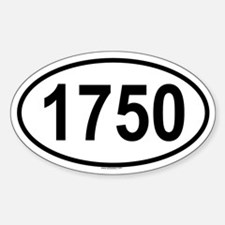 1750 Oval Decal