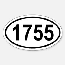 1755 Oval Decal