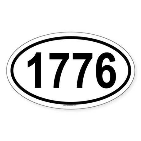 1776 Oval Sticker