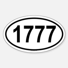 1777 Oval Decal
