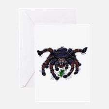 tarantula meets prey Greeting Card