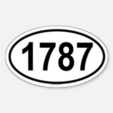 1787 Oval Decal