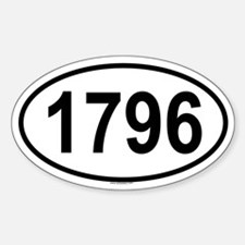 1796 Oval Decal