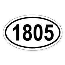 1805 Oval Decal