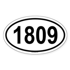 1809 Oval Decal