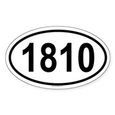 1810 Oval Decal