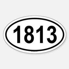 1813 Oval Decal