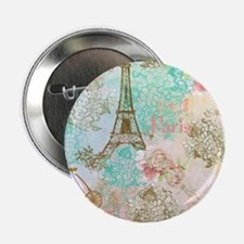 "Unique Paris rose 2.25"" Button"
