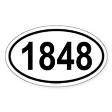 1848 Oval Decal