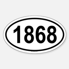 1868 Oval Decal
