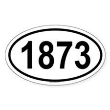 1873 Oval Decal