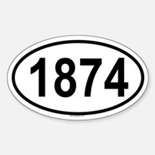 1874 Oval Decal