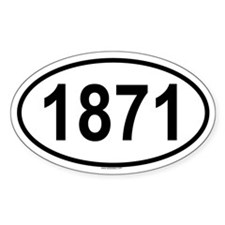 1871 Oval Decal