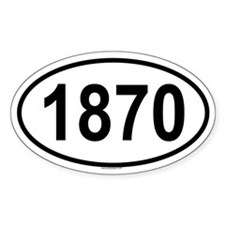 1870 Oval Decal
