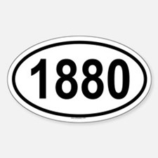 1880 Oval Decal