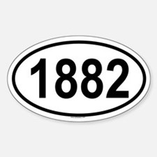 1882 Oval Decal