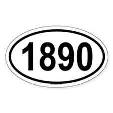 1890 Oval Decal