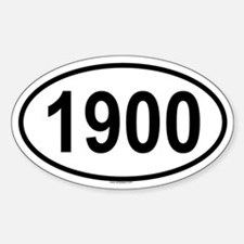 1900 Oval Decal