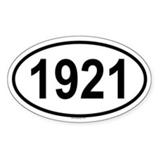 1921 Oval Decal