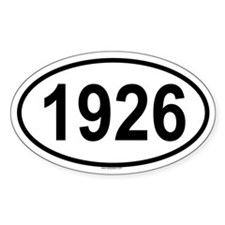 1926 Oval Decal
