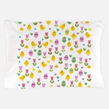 Easter - chick and tulips pattern Pillow Case