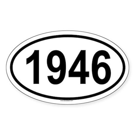 1946 Oval Sticker
