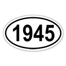 1945 Oval Decal