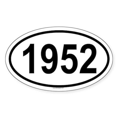 1952 Oval Sticker