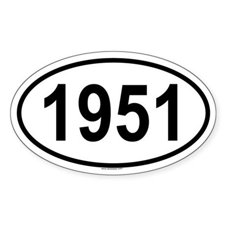 1951 Oval Sticker