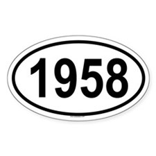 1958 Oval Decal