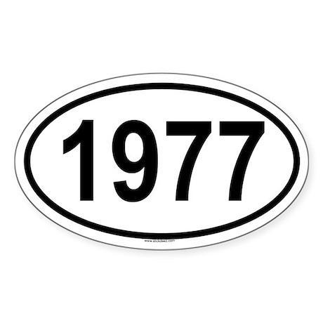 1977 Oval Sticker