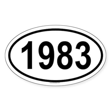 1983 Oval Sticker