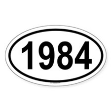 1984 Oval Decal