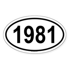1981 Oval Decal