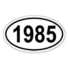1985 Oval Decal