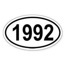 1992 Oval Decal